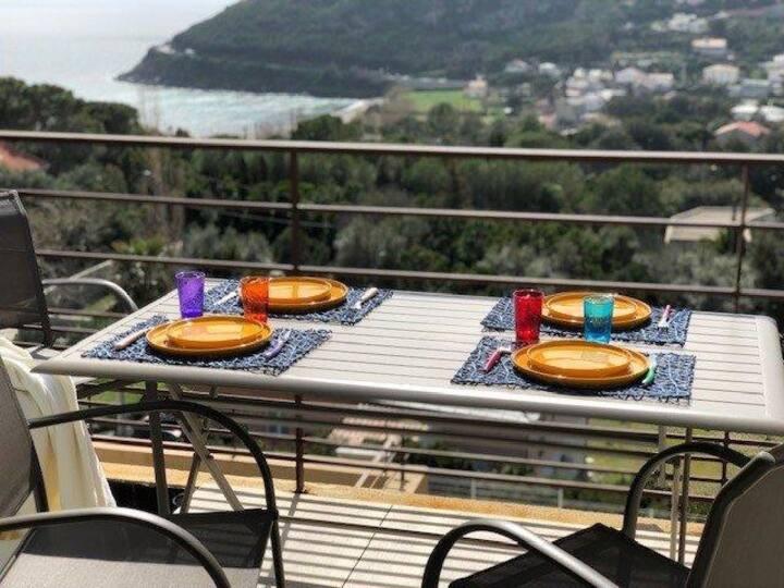 Appartement T3 moderne vue mer à Sisco