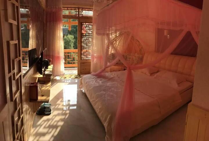 Romantic wooden house