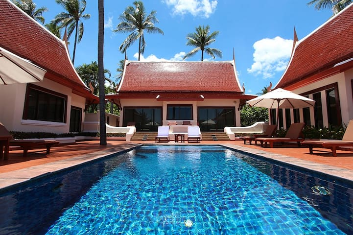 1bdr villa with pool on Koh Samui Choeng Mon beach