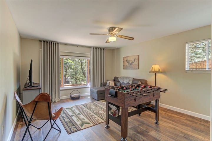 Bonus/2nd living room comes with a sleeper sofa, TV and games for indoor entertaining.
