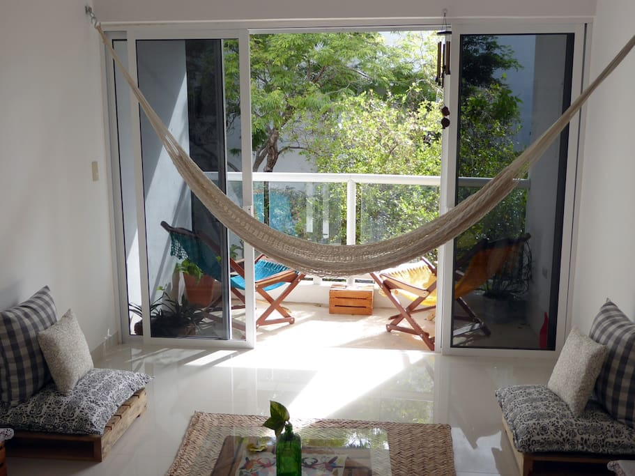 You have a hammock that could serve as a fifth acommodation to sleep
