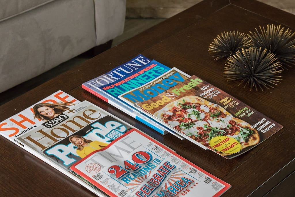 Many magazines and Denver Tour books are available to assist you with exploring EVERYTHING Denver as to offer.