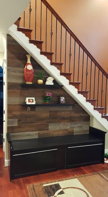 staircase wall display