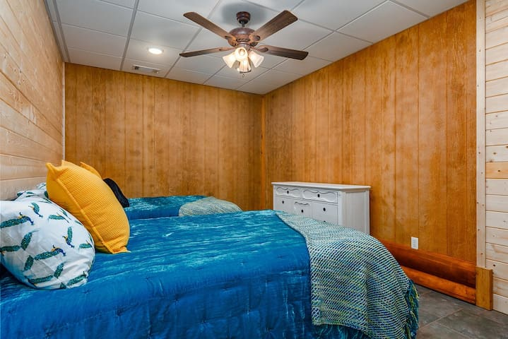 Another perfect room for kids. Bring the whole family and friends too! This bedroom also has 2 full beds.