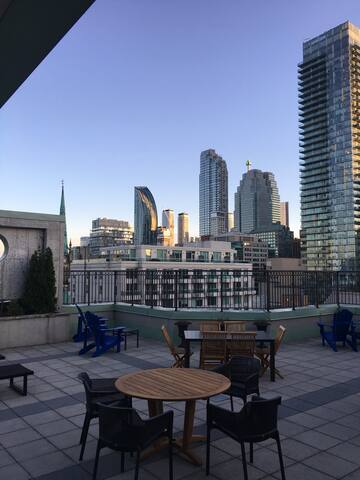 View from the rooftop deck