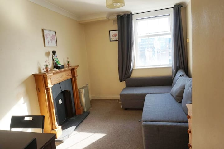 from the other angle you can appreciate the living room with a large sofa bed for 2 people