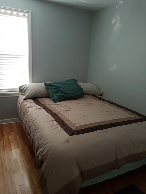 Your bed. Room is small, but cozy.  Lots of natural light.