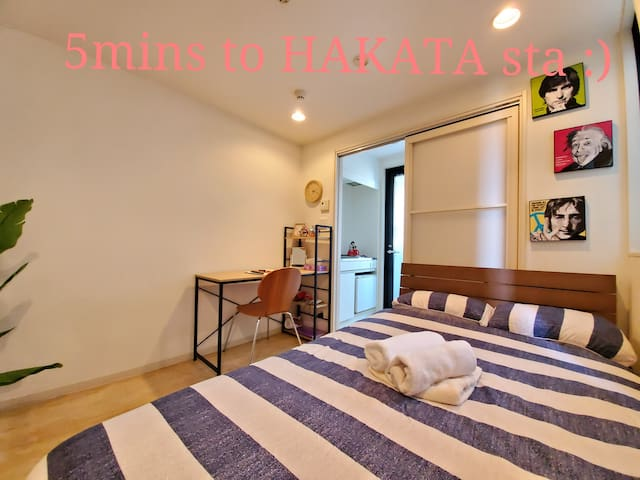 【4mins walk to HAKATA sta】 Free Pocket Wifi ♯301