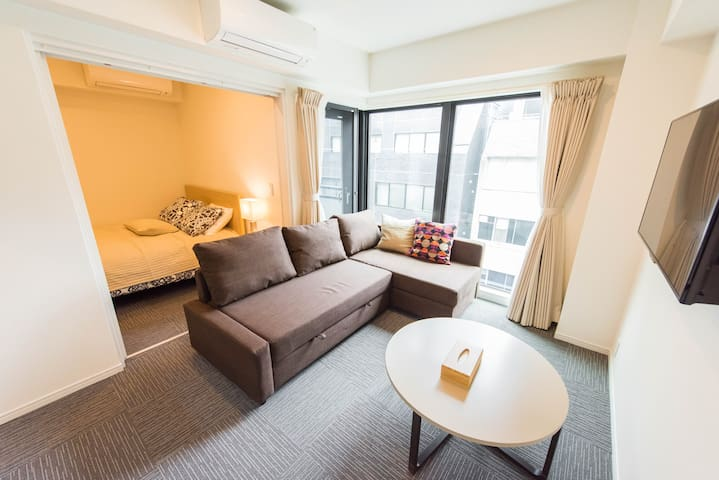 Roomy apt 3 min from sta w/wifi(西新橋IT1ビル6F) Shinbashi