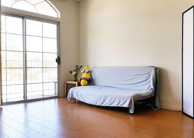 Couch in the shared living room. - Los Angeles - Apartment