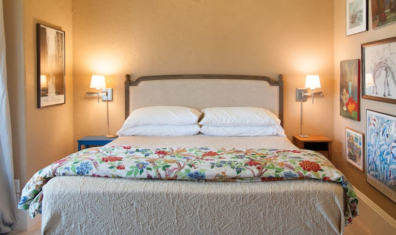 luxe linens and super comfortable mattress make for a delightful sleep