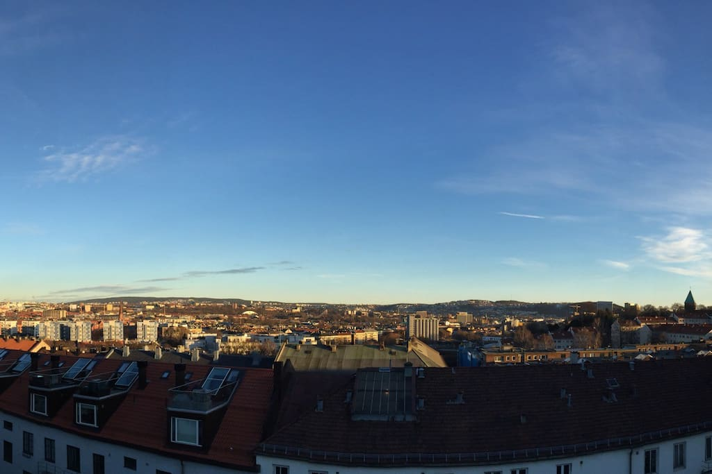 Spectacular panorama view over North, East, and South of Oslo