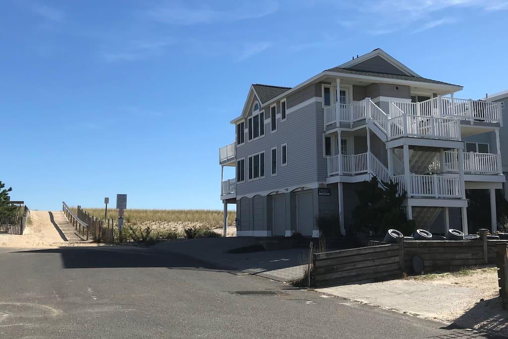 Side of House - Beach Entrance
