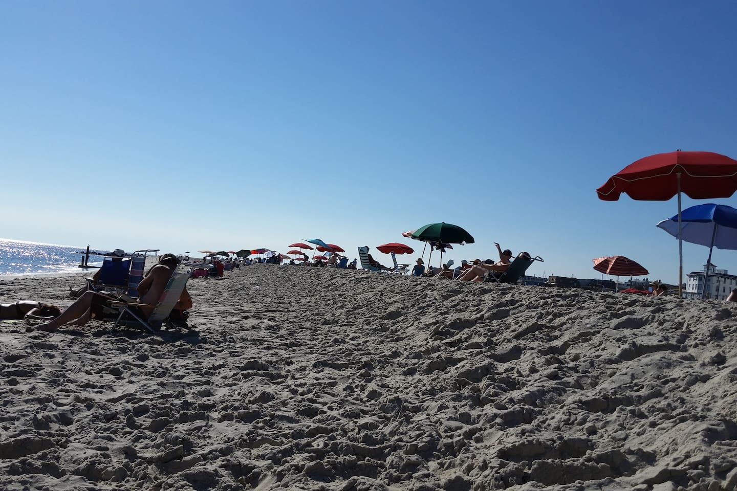 Spend your day at the landmark Cape May's beach half a block away from the bungalow
