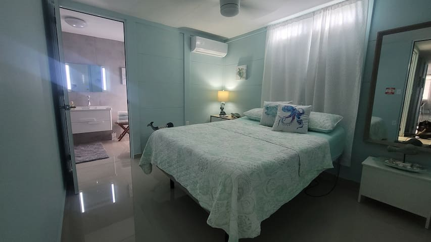 Room #1 with bathroom and Adjustable bed (Queen size)