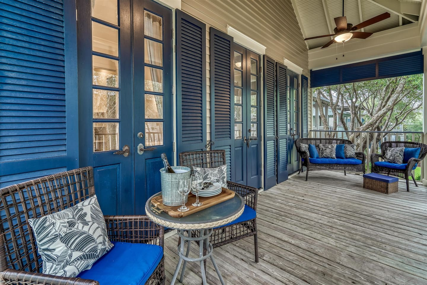 2nd Floor Balcony - Furnished with Cozy Outdoor Furnishings