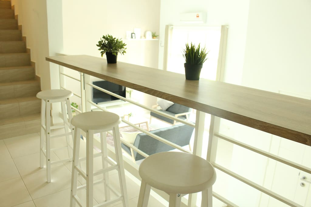Bar table at living room for chilling