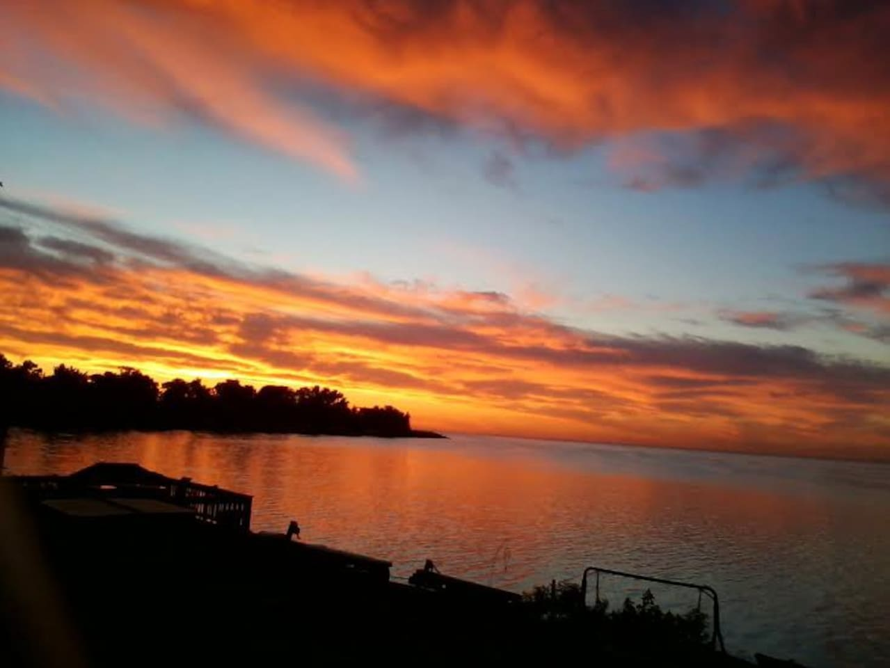 Sunrise over Maumee Bay, Lake Erie