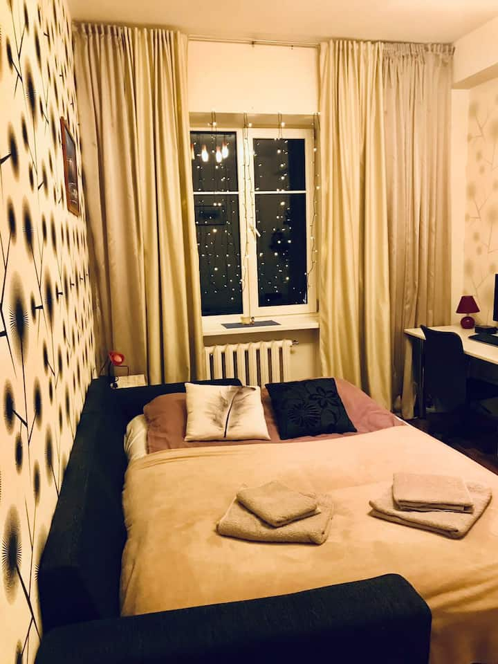 Cozy flat for two, free parking in central area