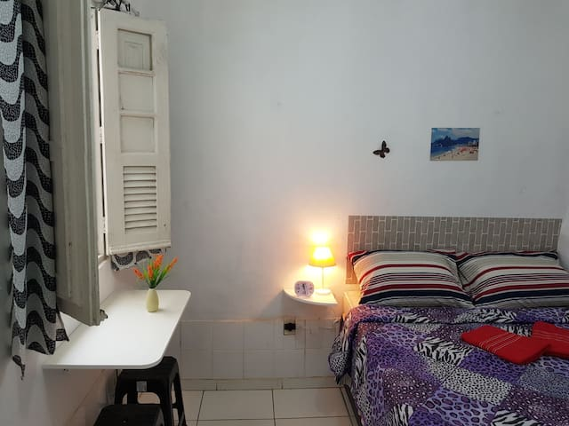 2-Charming Double room Copacabana/Botafogo beach