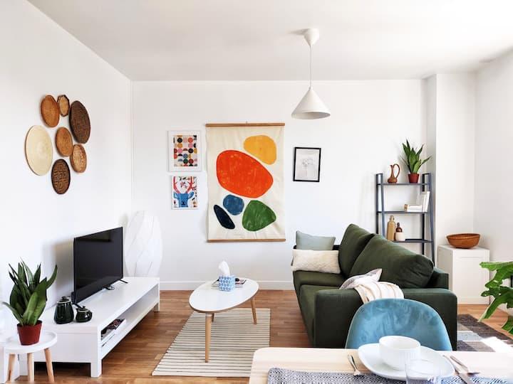 Bel appartement lumineux et traversant