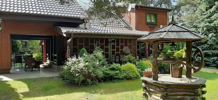 Stylowy dom letniskowy w Joncu, okolice Płonska