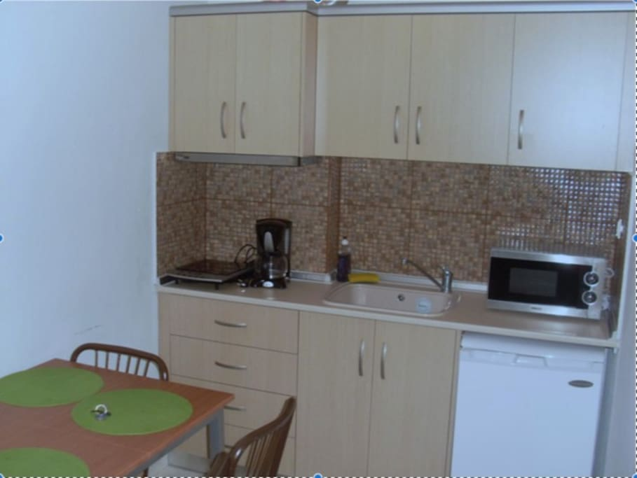 kitchen of the small apartment