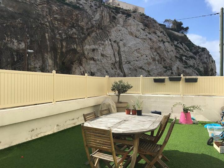 Chambre partagée avec superbe terrasse