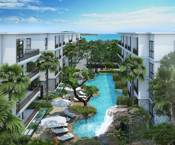 ❤️Newly decorated 1B Beachfront Condo, Title Rawai