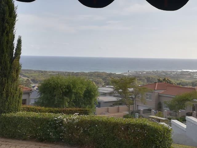 180 degree view over whale coast ocean in Hermanus