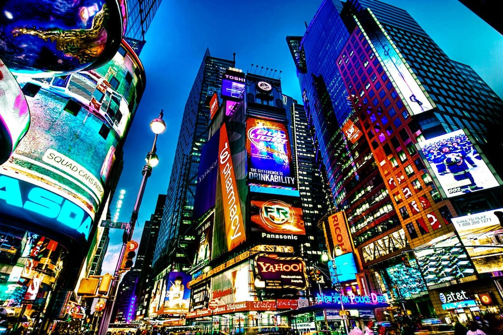 Times Square is only a short walk away