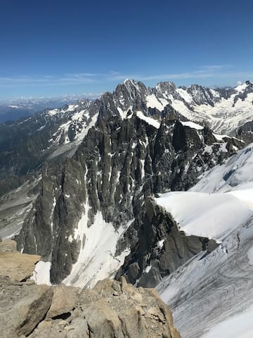 Chamonix. Perfect place for skiing and hiking.
