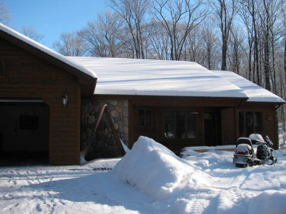 Close to snowmobile trails, skiing and the beach