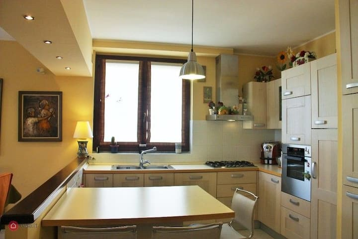 Big apartment in a quiet small town near Milan