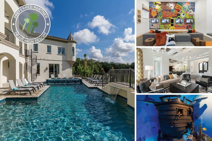 Luxury Estate | 12 Bed Villa, Spectacular Pool, Game Room, Home Theater