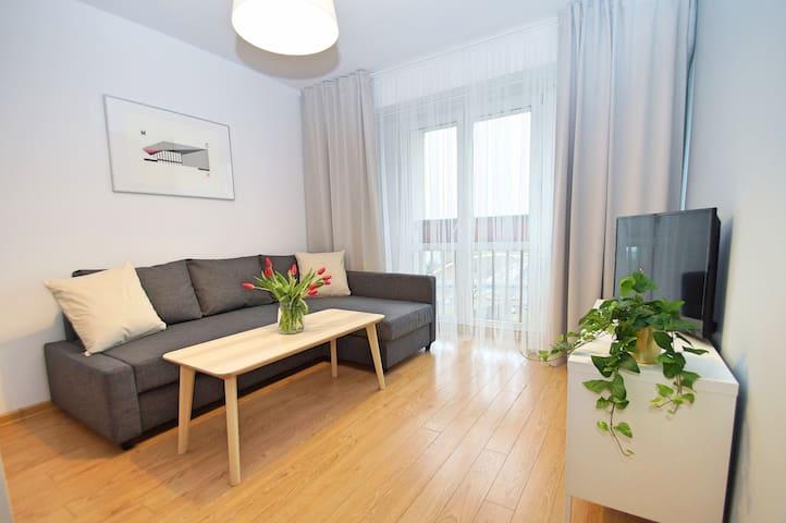 Apartament Uniwersytecka Katowice. Spodek 5 min