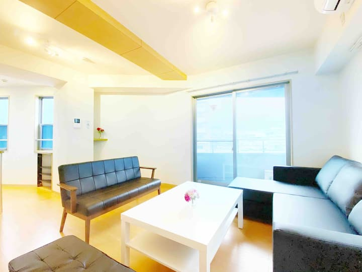 NEW ◇ Top floor suite ◇ 4-min-walk to nearest Sta