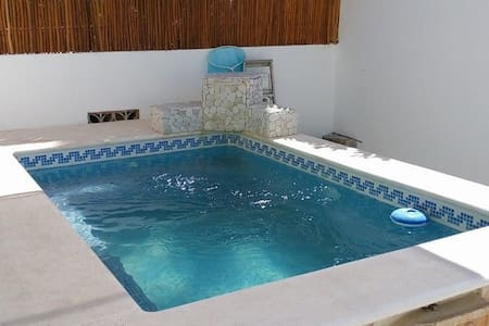 Nice House,4pax,5min Xcacelito Beach, pool!