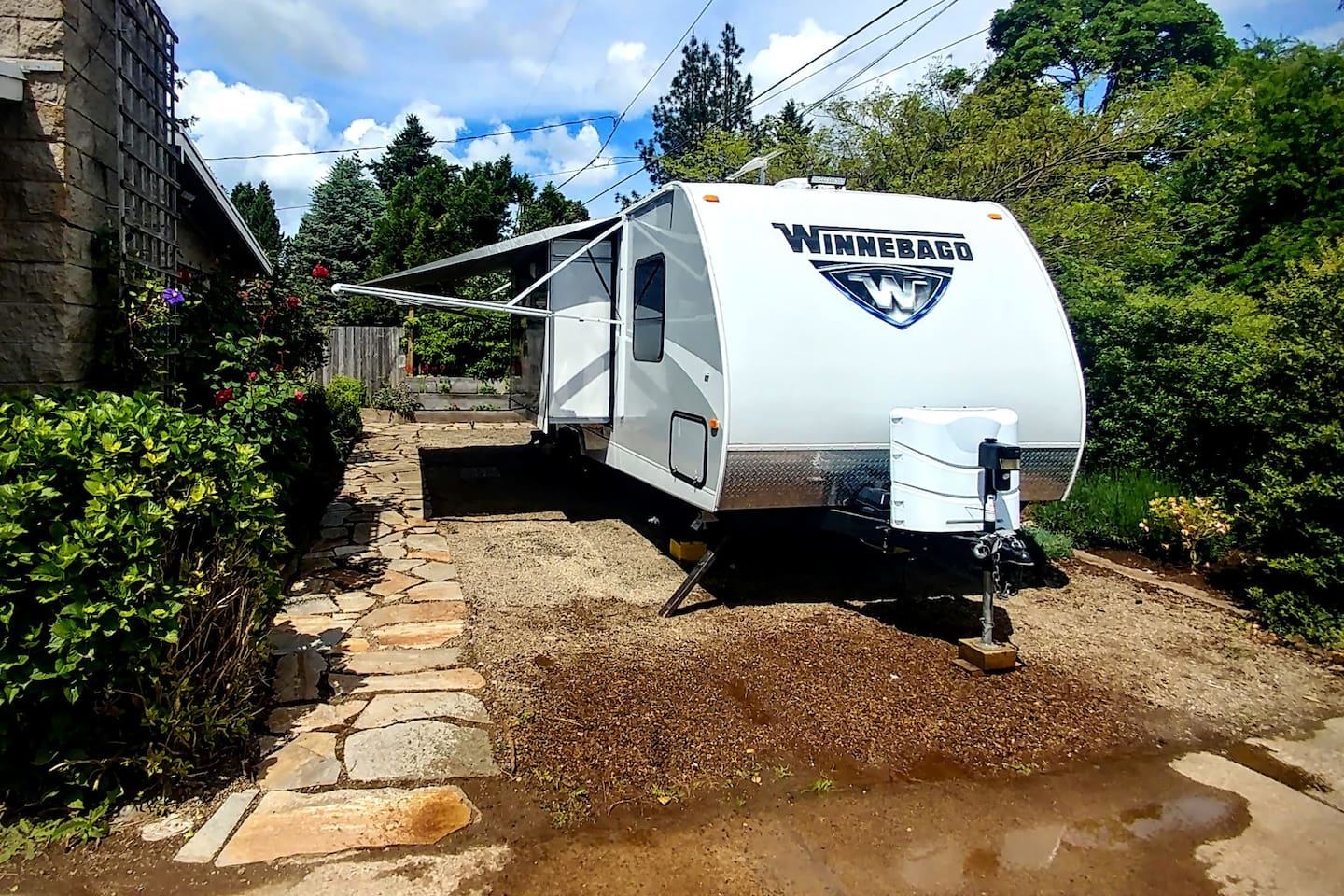 Enjoy glamping in our private urban campground, surrounded by beautiful landscaping. A perfect place to relax during your time in Eugene.