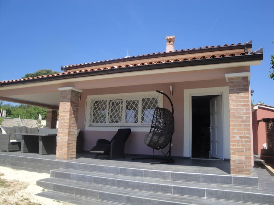 The side porch
