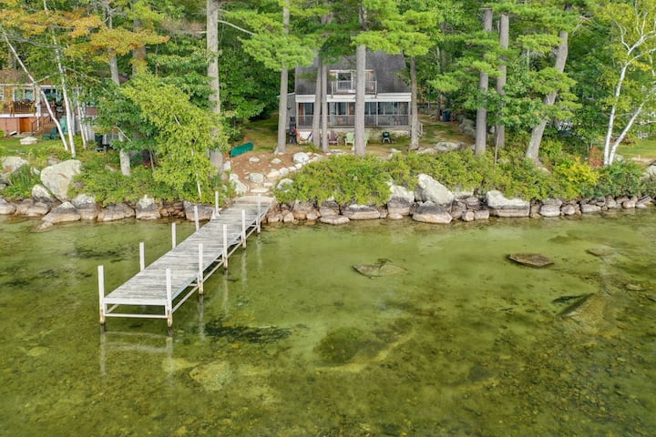 Sunny, pet-friendly, waterfront home on Lake Winnipesaukee with Screened Porch