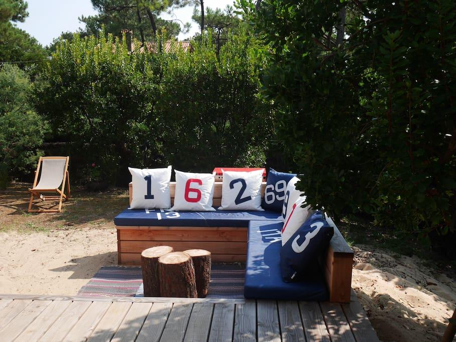 Canapé ext. Bout terrasse