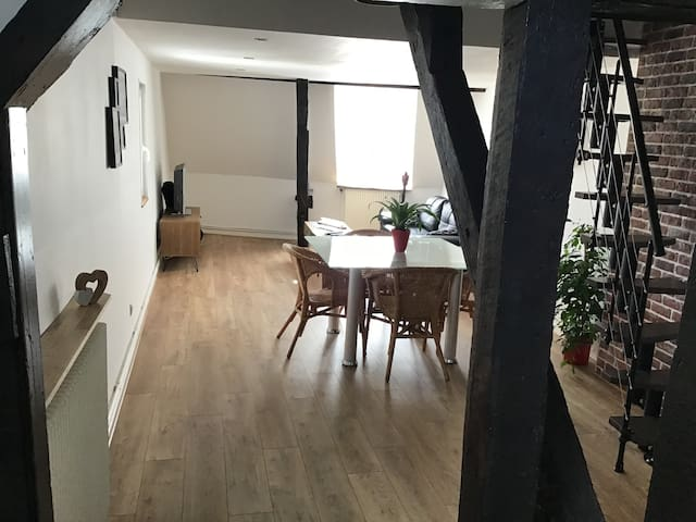 Appartement type loft vue sur les bords de l Eure