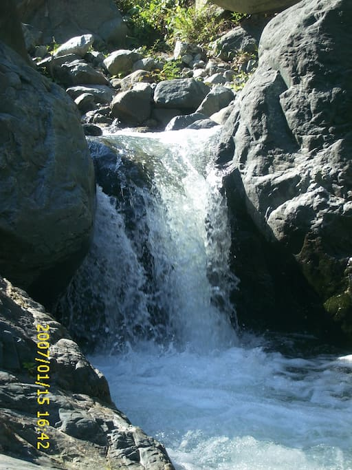 Fresh water river with water fall.