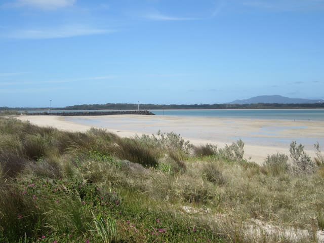 View to the east with Little Snake Island and Wilson's Promontory in the background