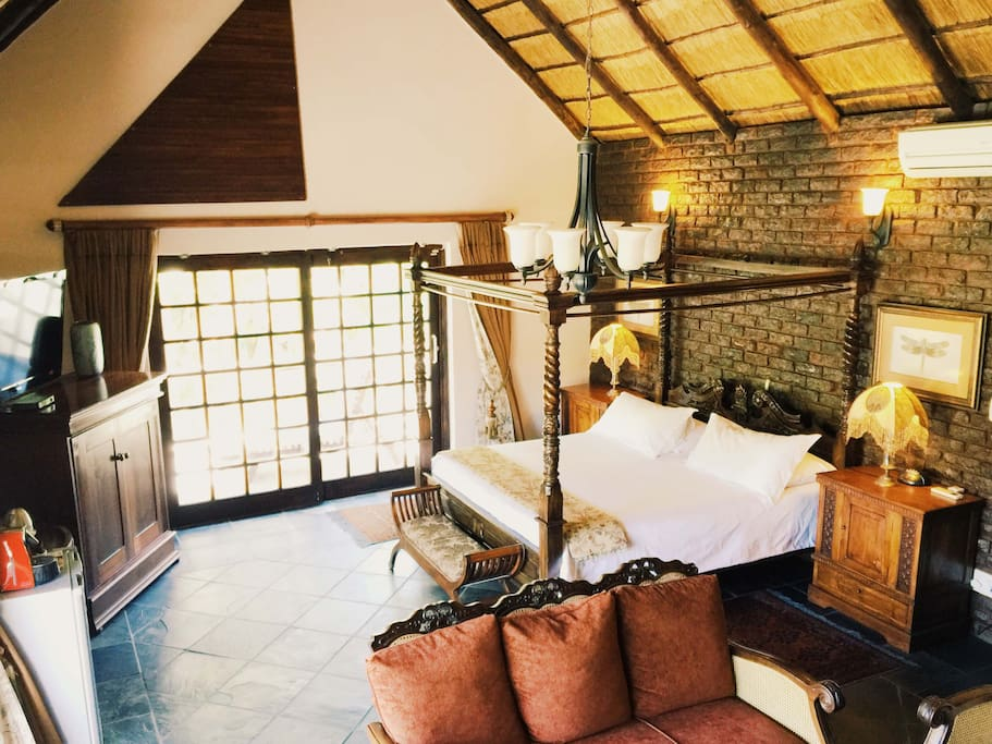 Our Presidential Suite has a lovely lounge equipped with a fire place.