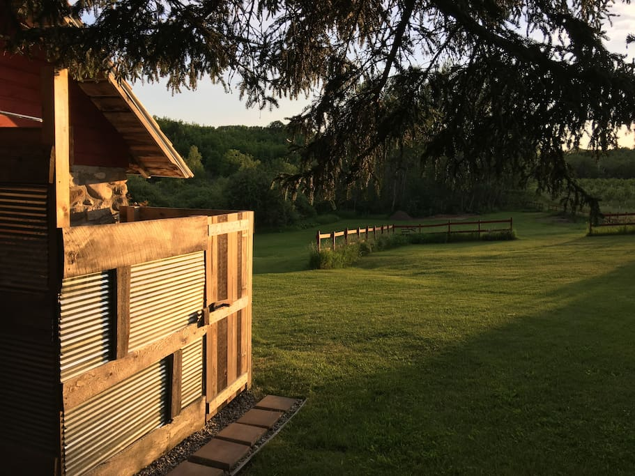 Stone Cottage outdoor shower