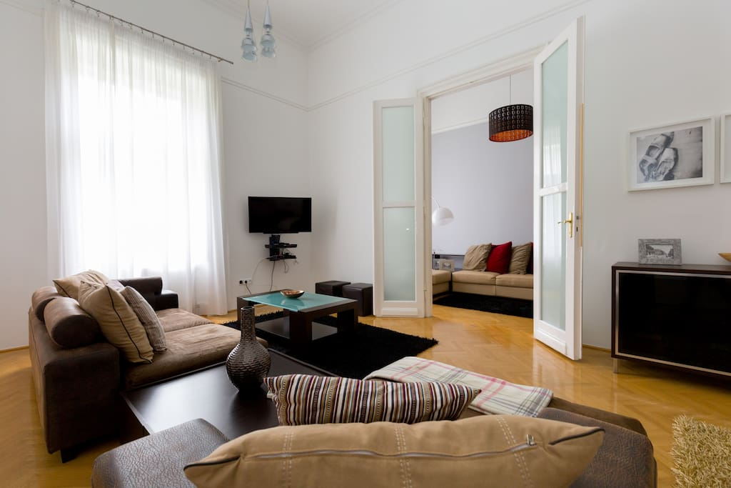 Living room overlooking Andrassy