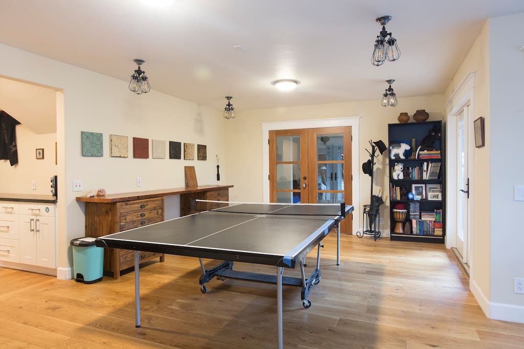 Yes, we have a ping-pong table.
