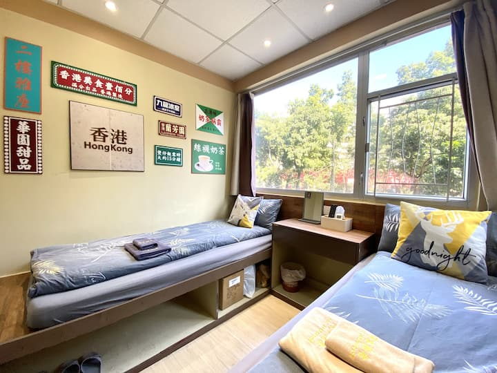 <Monthly$6000!!> Garden View Twin Room MTR 4mins
